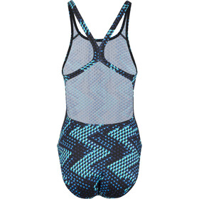 speedo MirrorGlare Allover Traje de Baño Powerback Mujer, black/blue